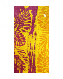 Prosop de Plaja Velour Aloha Gold, 95x180 cm (Bumbac 100%)