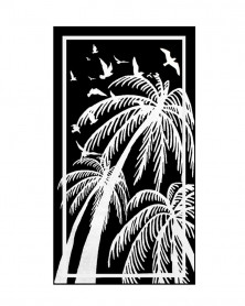 Prosop de Plaja Velour Palms, 95x180 cm (Bumbac 100%)