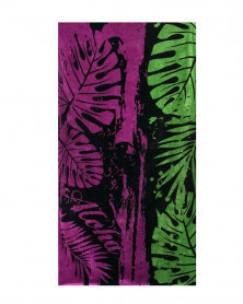 Prosop de Plaja Velour Aloha Black, 95x180 cm (Bumbac 100%)