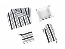 Set Bucatarie, 12 Piese, Black and White (Bumbac 100%)