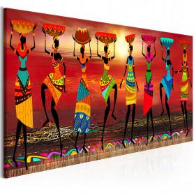 Tablou - African Women Dancing 135x45 cm