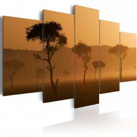 Tablou - Fog over a savannah 200x100 cm