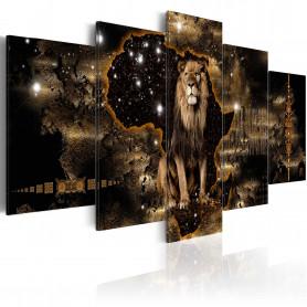 Tablou - Golden Lion 100x50 cm