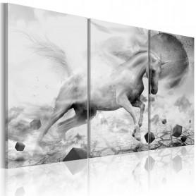 Tablou - A unicorn on the edge of the world 90x60 cm