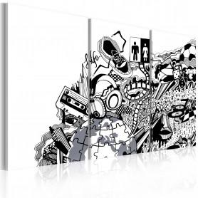Tablou - Artistic mess - triptych 60x40 cm