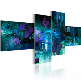 Tablou - Butterflies in turquoise 200x90 cm