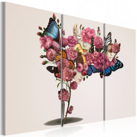 Tablou - Butterflies, flowers and carnival 120x80 cm