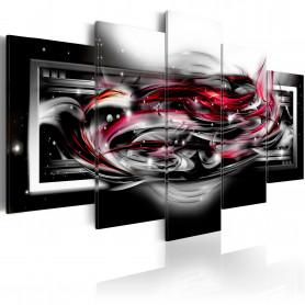 Tablou - Carmine ribbon 200x100 cm