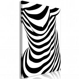 Tablou - Zebra Woman (1 Part) Vertical 80x120 cm