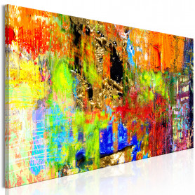 Tablou - Colourful Abstraction (1 Part) Narrow 120x40 cm