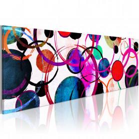 Tablou - Colourful Circle 135x45 cm