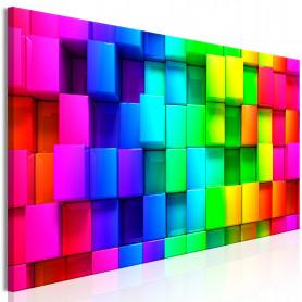Tablou - Colourful Cubes (1 Part) Narrow 135x45 cm