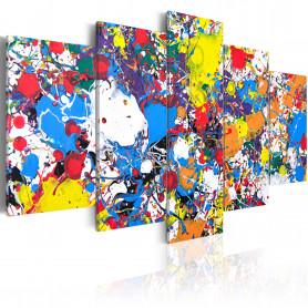 Tablou - Colourful Imagination 100x50 cm