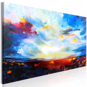 Tablou - Colourful Sky (1 Part) Narrow 150x50 cm