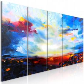 Tablou - Colourful Sky (5 Parts) Narrow 225x90 cm