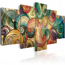 Tablou - Colourful Waves 100x50 cm