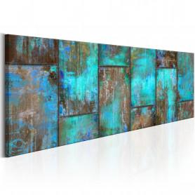 Tablou - Metal Mosaic: Blue 150x50 cm