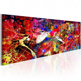 Tablou - Red Forest 135x45 cm