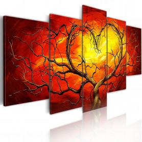 Tablou - Burning heart 200x100 cm