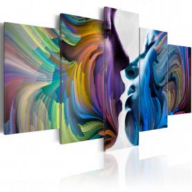 Tablou - Kiss of Colours 200x100 cm
