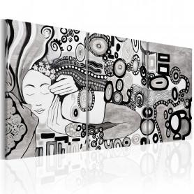 Tablou - Silver Kiss 120x60 cm