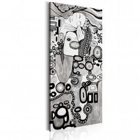 Tablou - Silver Love 30x60 cm