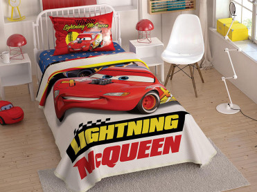 Lenjerie si Cuvertura Copii Cars Lightning McQueen (Bumbac 100%)