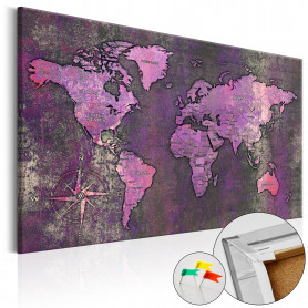 Tablou din plută - Amethyst Map [Cork Map] 60x40 cm