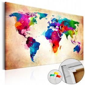 Tablou din plută - Colourful Ranger  [Cork Map] 60x40 cm