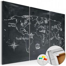 Tablou din plută - Geography lesson [Cork Map] 90x60 cm