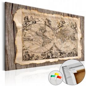 Tablou din plută - Map of the Past [Cork Map] 120x80 cm
