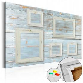 Tablou din plută - Retro Gallery [Corkboard] 120x80 cm