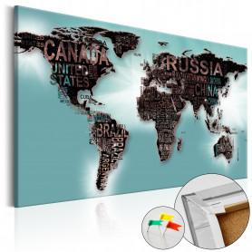 Tablou din plută - Subtlety of the World [Cork Map] 90x60 cm