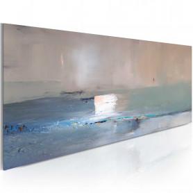 Tablou pictat manual - First wave 100x40 cm