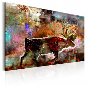Tablou - Colourful Caribou 90x60 cm