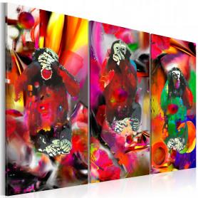 Tablou - Crazy Monkeys - triptych 120x80 cm