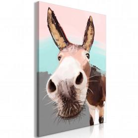 Tablou - Curious Donkey (1 Part) Vertical 60x90 cm