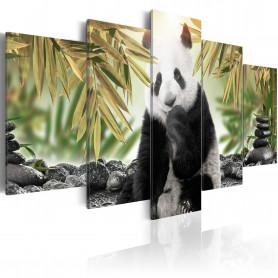 Tablou - Cute Panda Bear  100x50 cm