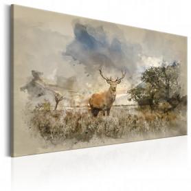 Tablou - Deer in Field 90x60 cm