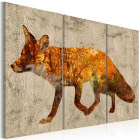 Tablou - Fox in the Wood 90x60 cm