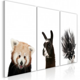 Tablou - Friendly Animals (Collection) 120x60 cm
