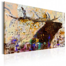 Tablou - Golden Stag 120x80 cm