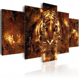 Tablou - Golden Tiger 100x50 cm