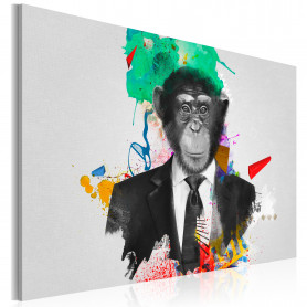 Tablou - Mr Monkey 90x60 cm