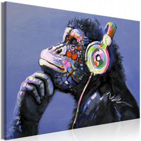 Tablou - Musical Monkey (1 Part) Wide 90x60 cm