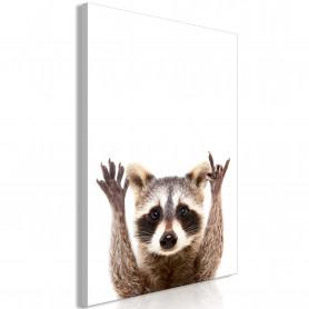 Tablou - Raccoon (1 Part) Vertical 80x120 cm