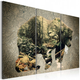 Tablou - The Bear in the Forest 120x80 cm