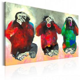 Tablou - Three Wise Monkeys 60x40 cm
