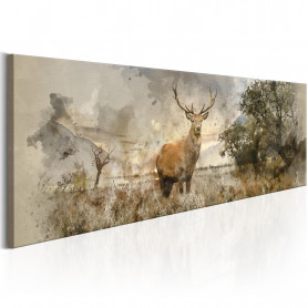 Tablou - Watercolour Deer 135x45 cm