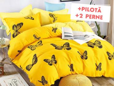 Pachet Lenjerie + Pilota + Perne Yellow Sky (Finet)
